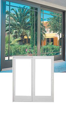 Fiberglass-Ultra Wood Clad Sliding Glass Door