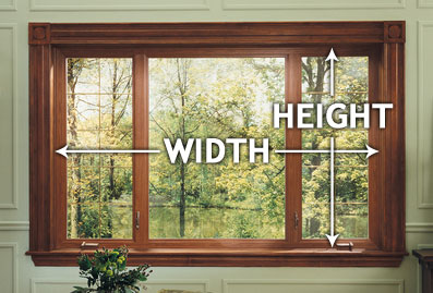 U Measure It | How to measure width and height for new house windows.